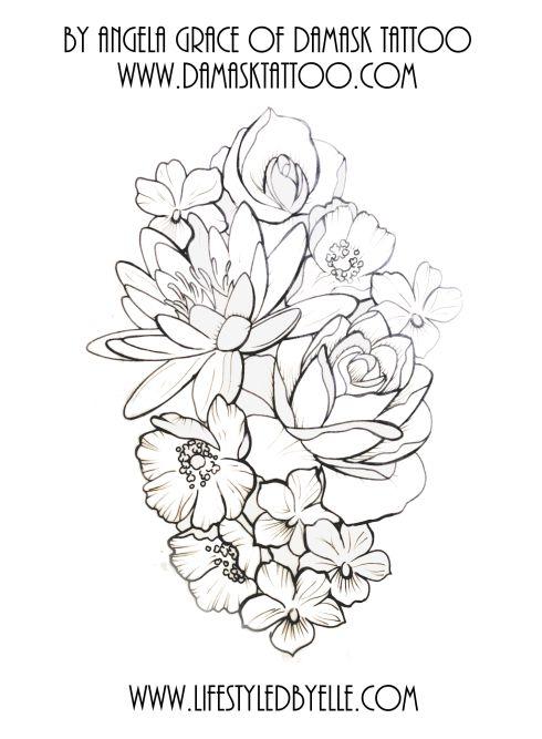 Floral Tattoo Art Floral Tattoo Sleeve Sleeve Tattoos Damask Tattoo