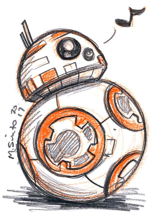 BB-8 - Michelle Sciuto (With images) | Star wars drawings, Star ...