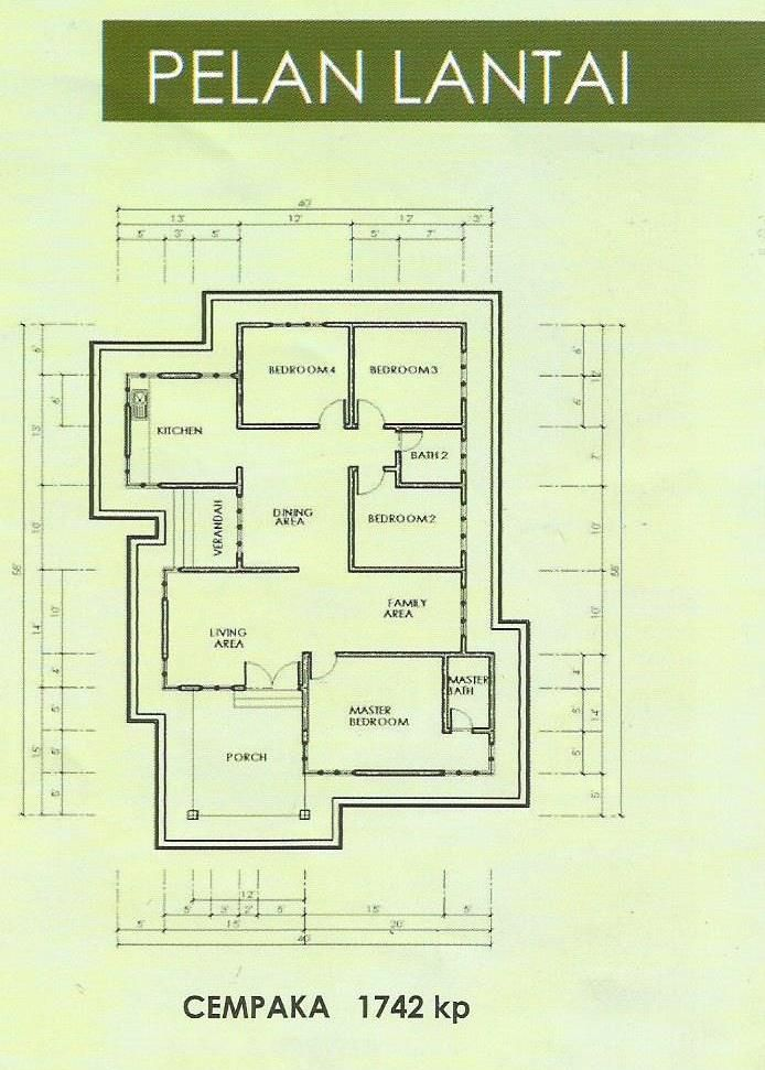 Plan Rumah Teres 4 Bilik