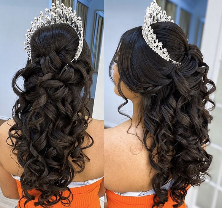 Pin By Sabynee Alvarez On Quince In 2020 Quince Hairstyles Hair Styles Sweet 16 Hairstyles
