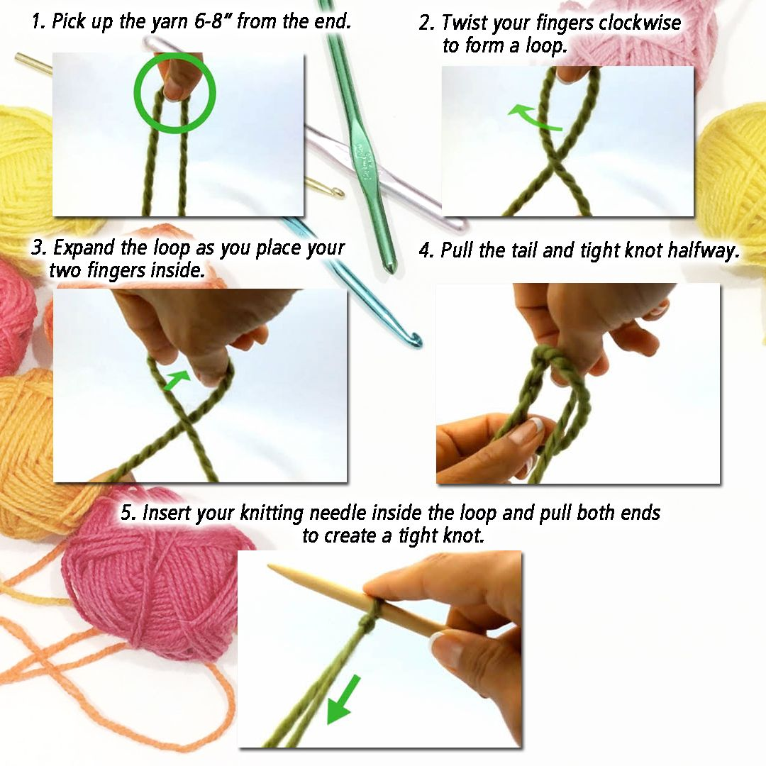 Creating A Slip Knot Is The First Step To Begin Knitting