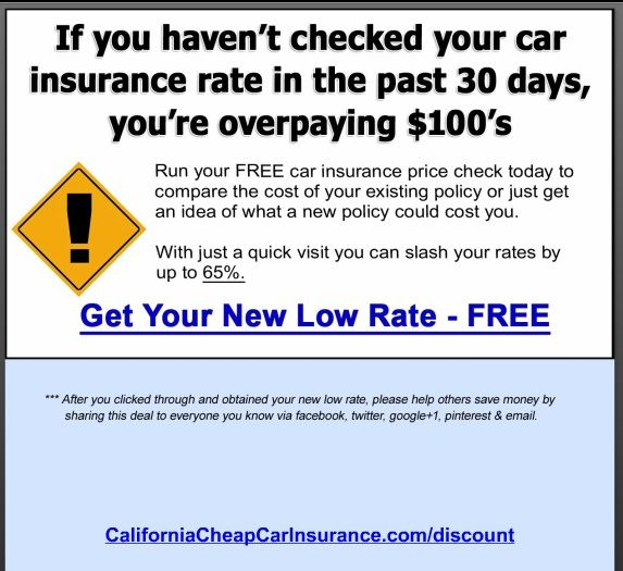 Stop Overpaying For Auto Insurance In California Visit Http
