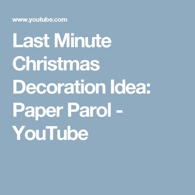 last minute christmas decoration idea paper parol youtube