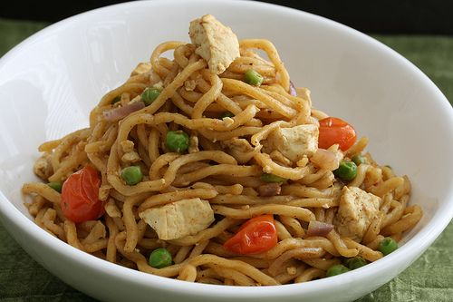 Curry Tofu Noodle Stir Fry- Want to try my hand at cooking tofu!