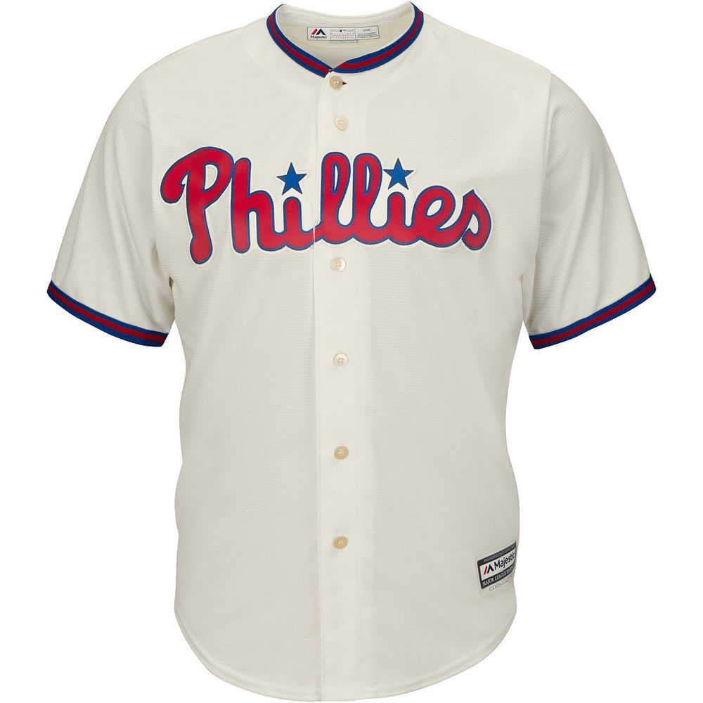 Majestic Athletic Men s Philadelphia  Phillies Replica Jersey from  80.0 19aedbfca510