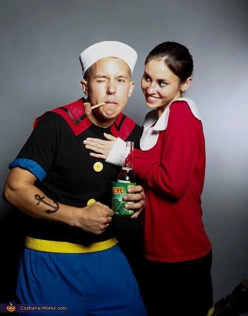 Popeye and Olive - Homemade costumes for couples @Stephanie Anderson  sc 1 st  Pinterest : couples homemade costume ideas  - Germanpascual.Com