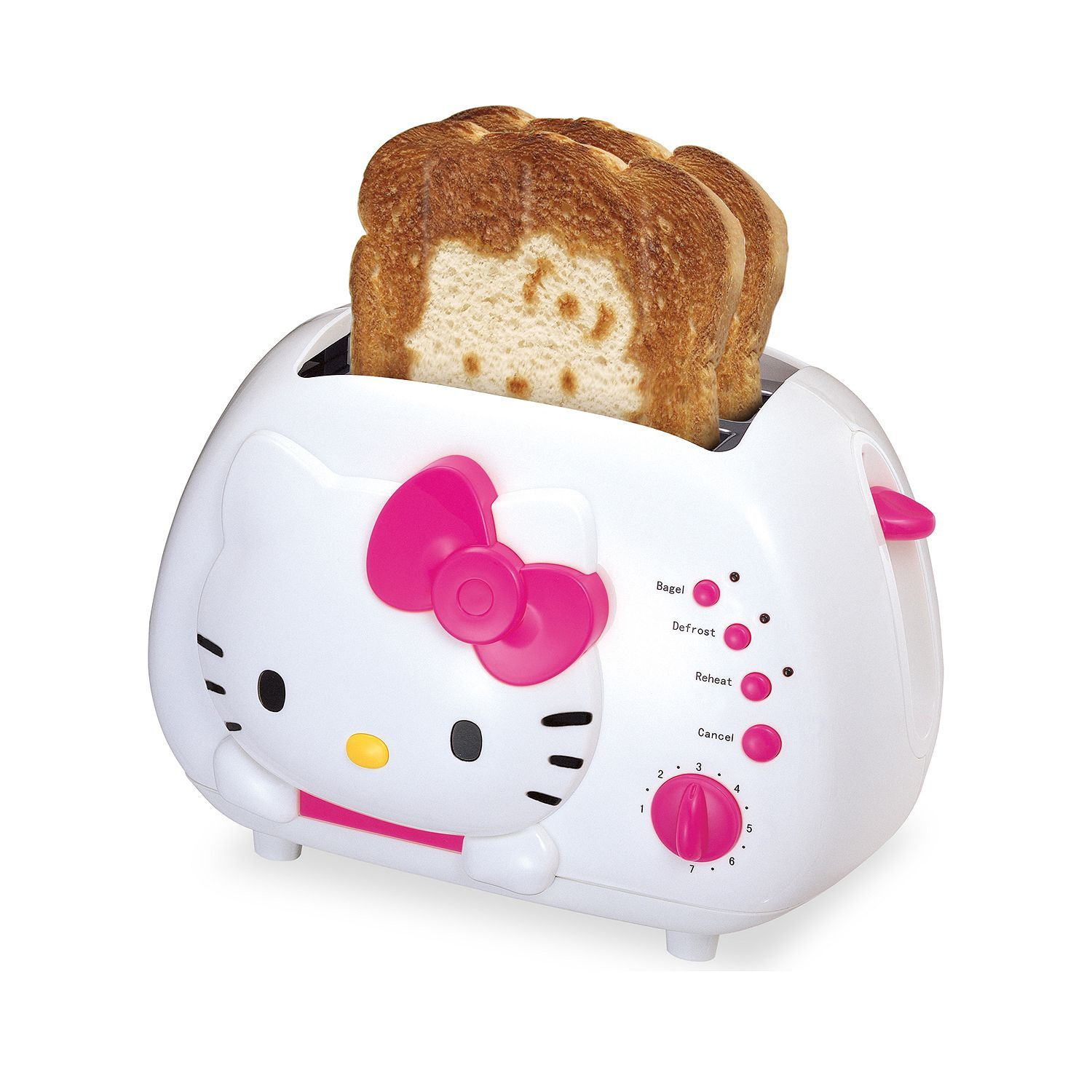 The Hello Kitty face on every slice of your toast. Savanna Henningfield I can see your sister wanting this.