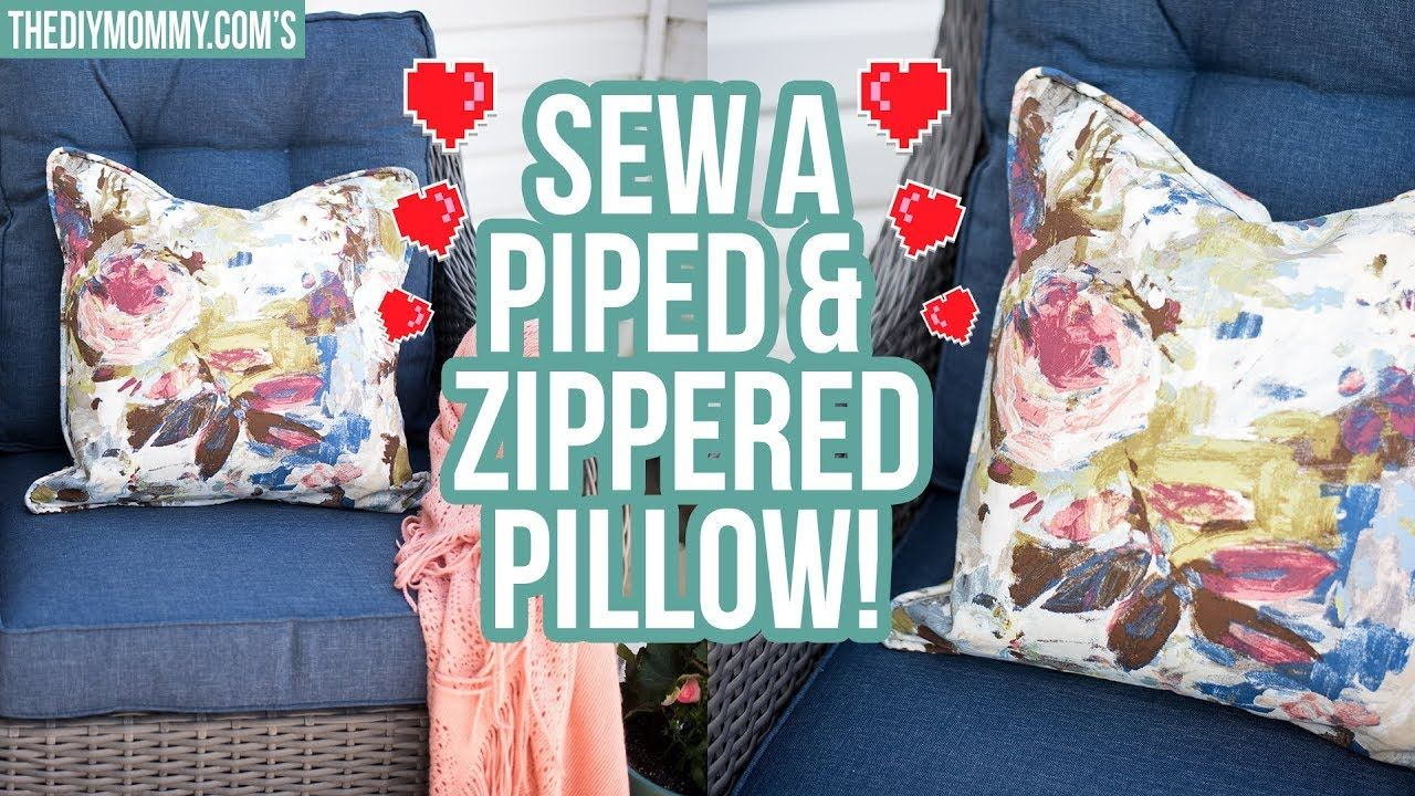 How To Sew A Throw Pillow With Piping And Zipper YouTube
