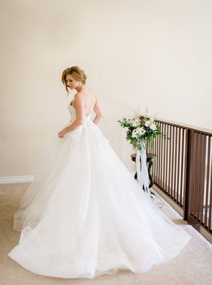 Beautiful ball gown wedding dress by JLM Couture wedding dress | fabmood.com #weddingdress #JLM #bridalgown