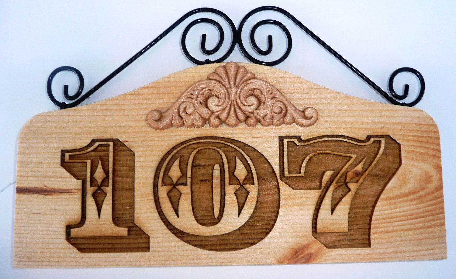Custom Wood Burned Sign House Number Or By