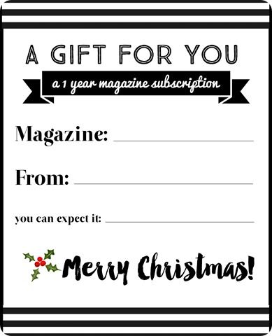 magazine subscription notice gift note letter Gifts Pinterest - gift letter