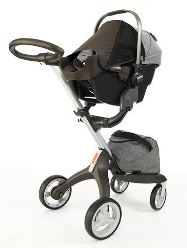 Nuna PIPA Infant Car Seat With Stokke Xplory Stroller Base Perfect For City Living And