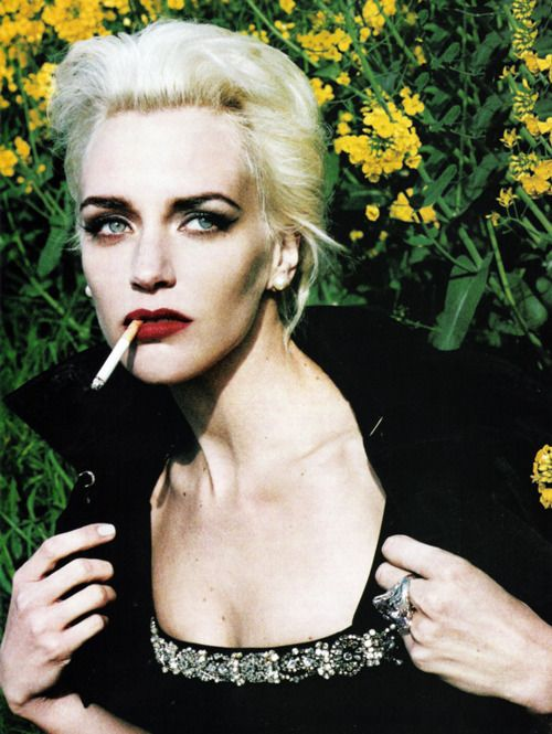Hannelore Knuts photographed by Ellen von Unwerth for Vogue Italia  #smoking #smoke #cigarett #ellenvonunwerth