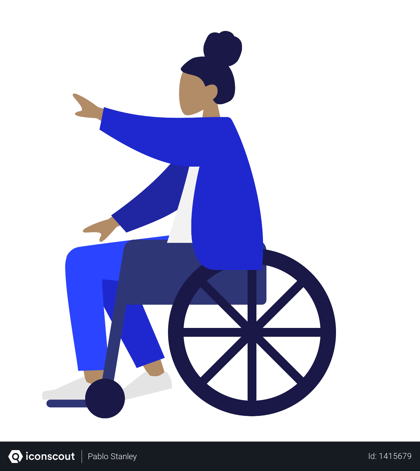 Free Handicapped Woman Sitting On Wheelchair Illustration Download In Png Vector Format Illustration People Illustration Wheelchair