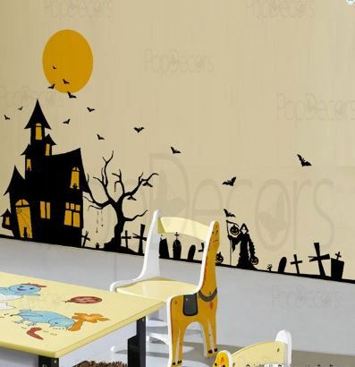 items similar to halloween decals holiday vinyl wall art decor stickers by pop decors on etsy