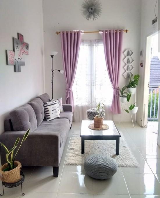 34 ide inspiratif interior ruang tamu minimalis rumah type