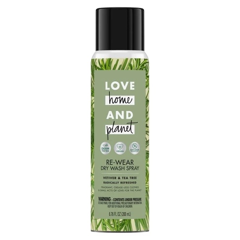 Love Home Planet Vetiver Tea Tree Re Wear Dry Spray 6 76oz