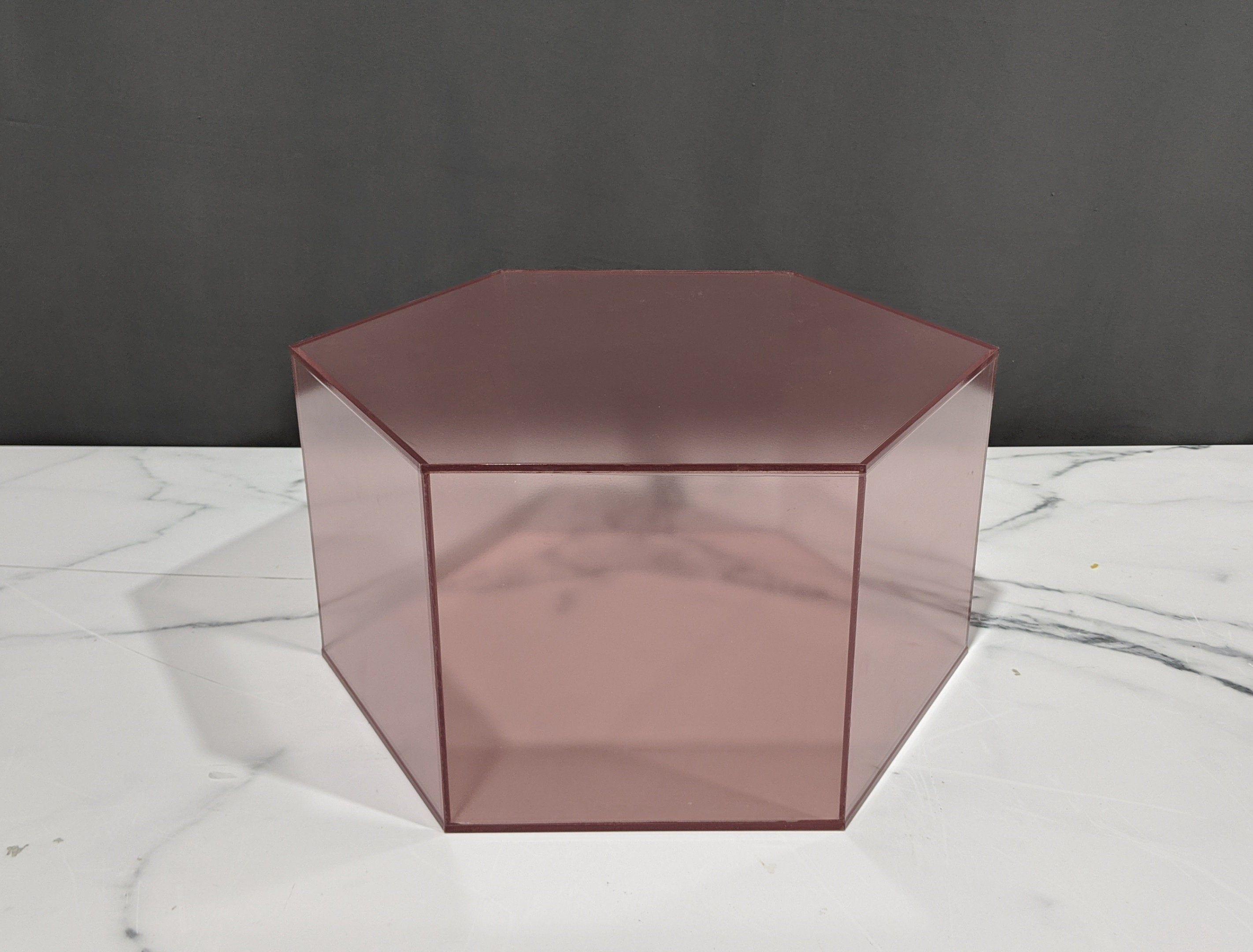 "20""W Octagon Acrylic Pedestal, Display Pedestals, Custom"