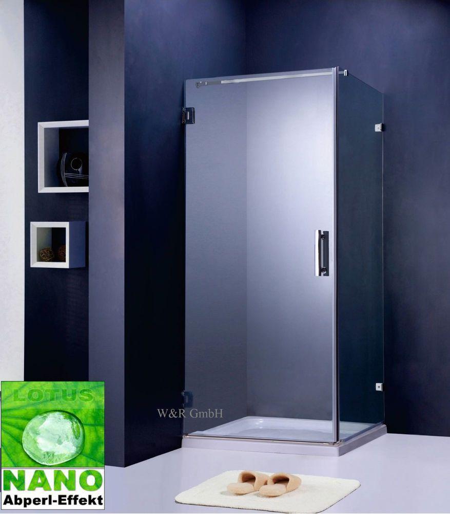 details zu duschkabine duschabtrennung dusche duschwand 8 mm lotus glas kabine kn top bad. Black Bedroom Furniture Sets. Home Design Ideas