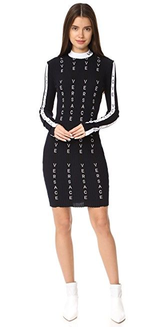 5f2caa9d8c Versace Midi Striped Dress