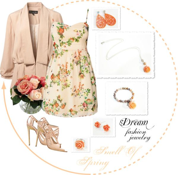 """Dream Fashion Jewelry Collection - Smell Of Spring - Pink"" by dreamfashionjewelry ❤ liked on Polyvore"