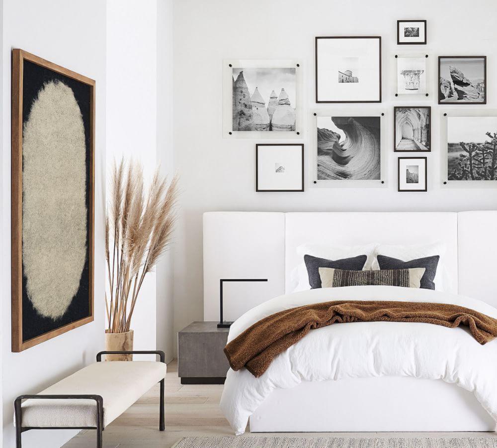 Framed Felt Textile Wall Art Pottery Barn Ca End Of Bed Bench Bedroom Frames Textile Wall Art