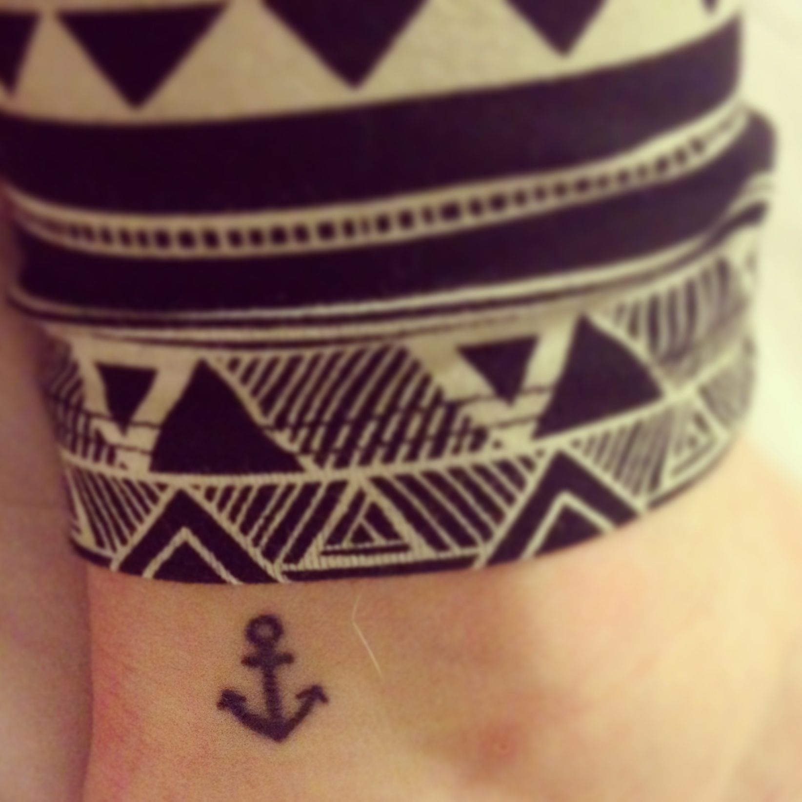 """one of my other newer tattoos right between my ankle and achilles!⚓ a constant reminder to """"stay grounded""""/humble  #tattoo #anchor #anchortattoo"""
