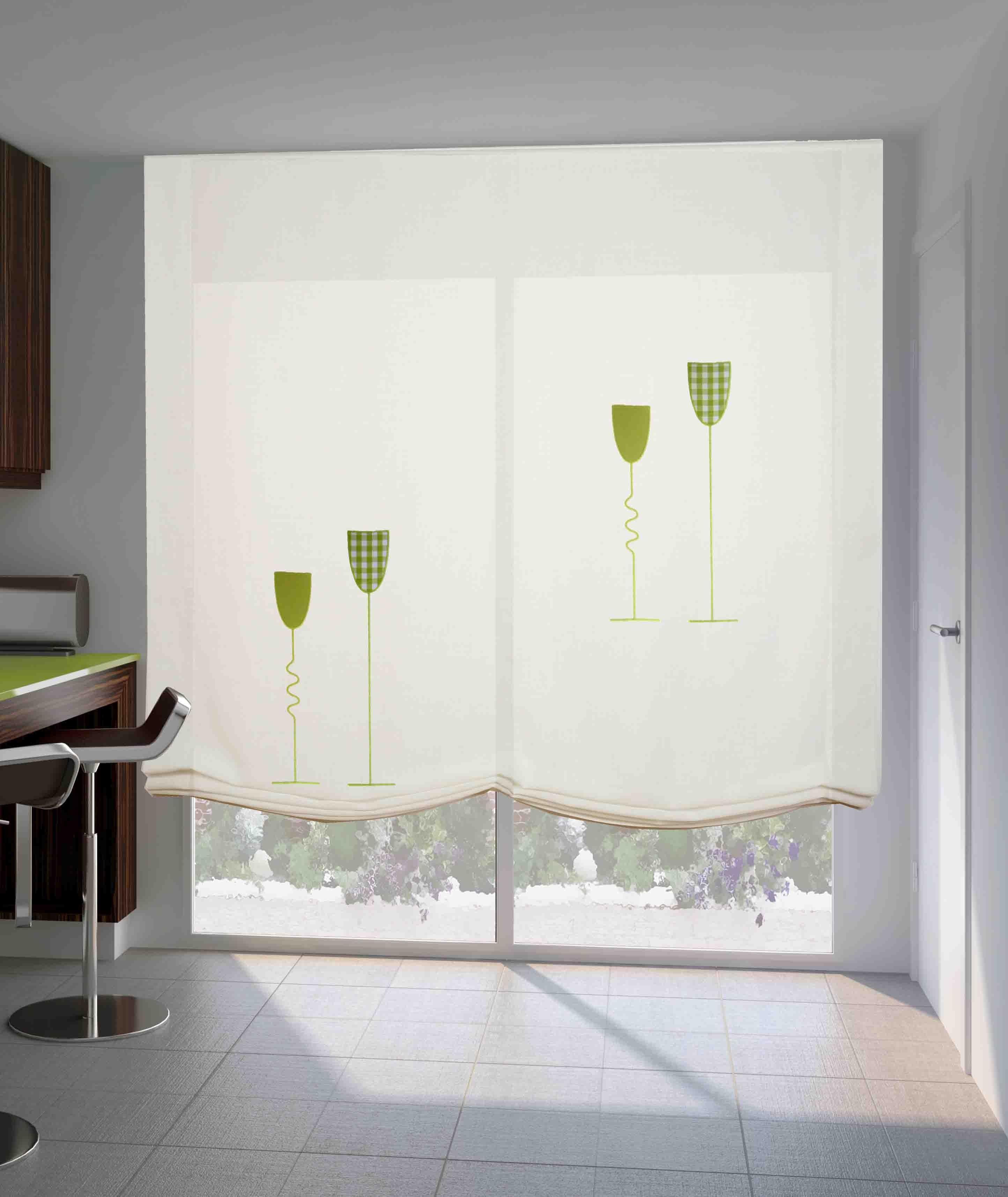 Vistiendo la ventana de tu cocina con estilo cortinas - Estores para cocina ...