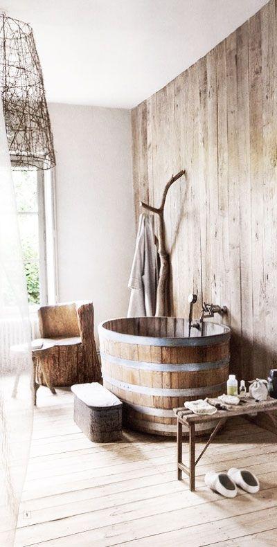 coin salle de bain en bois