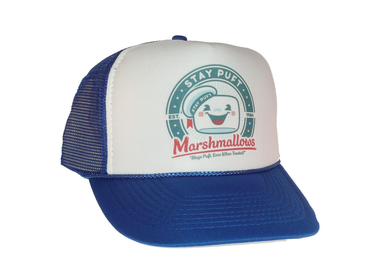 9c0bc118f06 Stay Puft Marshmallows Hat Trucker Hat Mesh Hat Royal Blue Ghostbusters  Movie