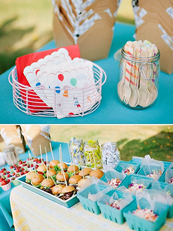 Colorful Backyard Birthday I Like The Casual Fun Atmosphere This Can Create For A Get Together Gifts Birthdaygifts
