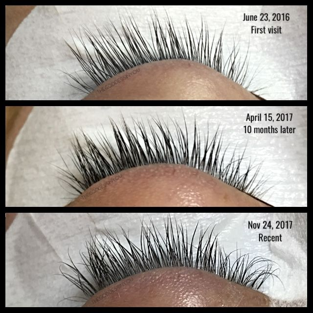 e8d25600e3d Eyelash extensions don't ruin your natural lashes IF done correctly! Same  client from her first visit to 1.5 years later with no breaks in between!