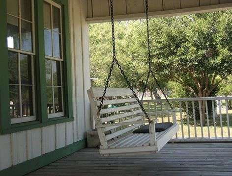 Love Old Porch Swings The Smell Of Good Cooking Through The Window Faint Hum Of Music In The Background And Th Porch Swing Diy Porch Swing Plans Patio Swing
