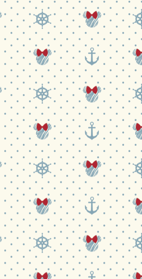 Nautical Minnie Mouse Themed Pattern By Yorkshire Bear Graphic