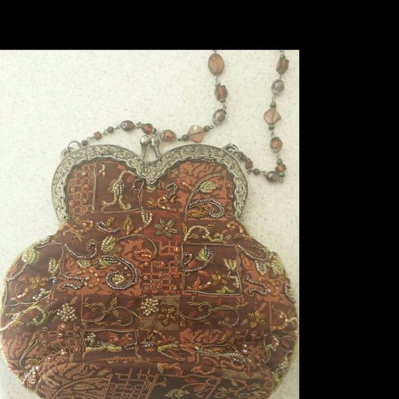 """Vintage Beaded Purse Hand made beaded evening purse.  By """"Enjoy the Elegance"""", with beaded handle. Bags Clutches & Wristlets"""