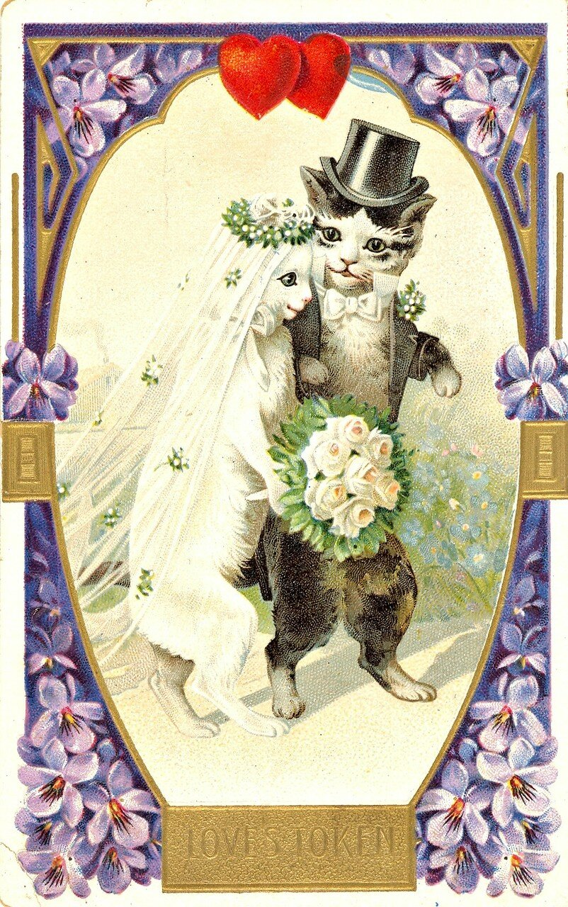 Советские свадебные открытки