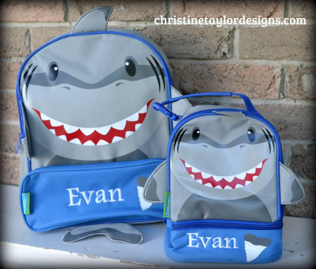 Stephen Joseph Backpack/Lunch Combo Set - Shark
