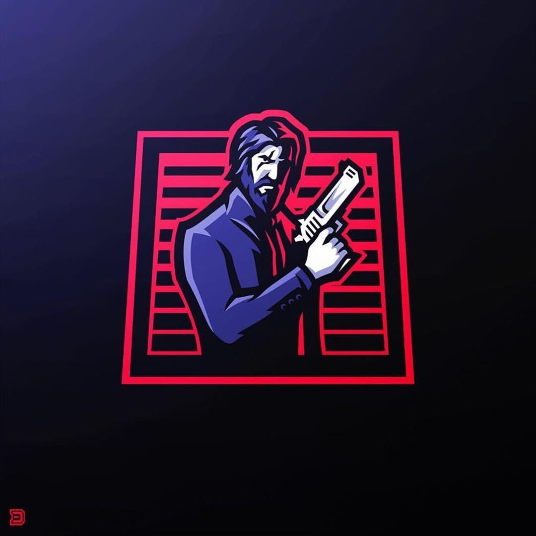 John Wick Mascot By Derrick Stratton Of @dasedesigns