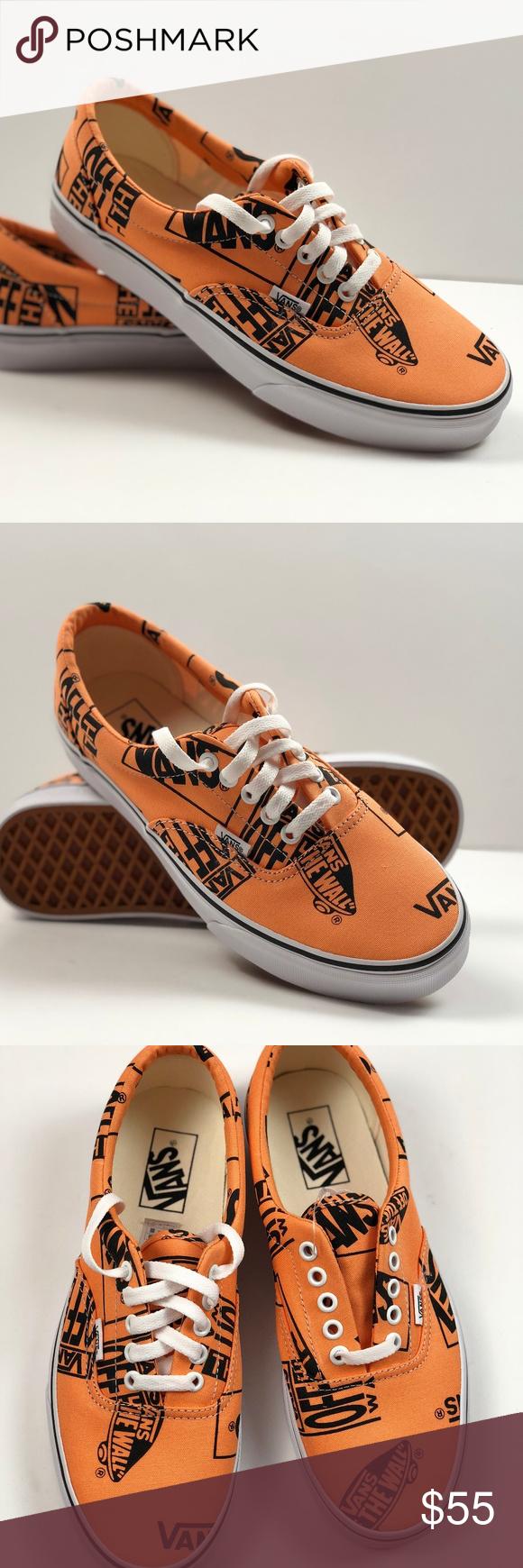4c5203bab864 Vans Era Logo Mix Tangerine Black Sneakers. Vans Era Logo Mix Tangerine  Black
