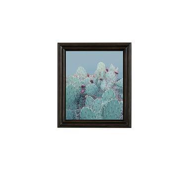 "Desert Blues Framed Print by Jane Wilder, 11 x 13"", Ridged Distressed Frame, Black, No Mat"