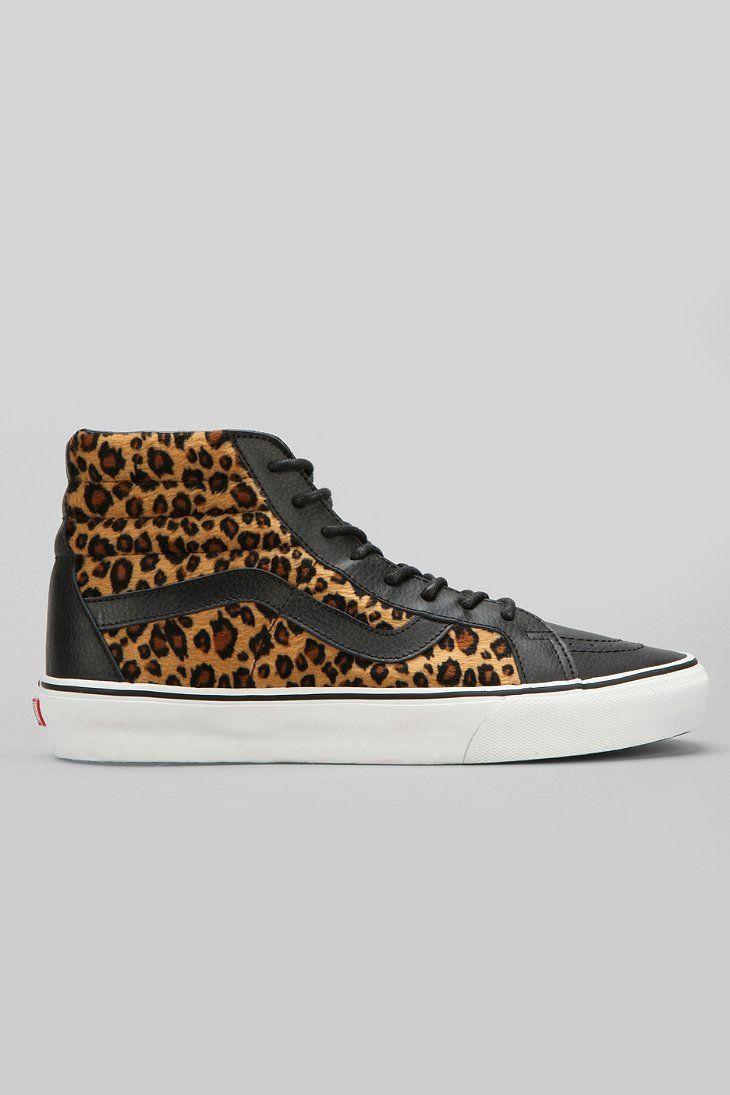 75e28a0e509172 Vans Classic Sk8-Hi Reissue Leopard Men s Sneaker - Urban Outfitters ...
