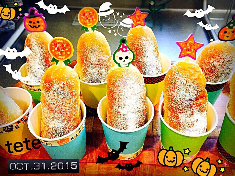てて's dish photo Happy  Halloween | http://snapdish.co #SnapDish #ハロウィン #ハロウィングランプリ2015 #揚げパン