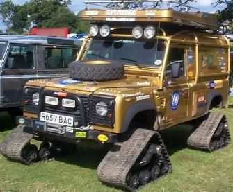 Global Expedition Tracked Land Rover.