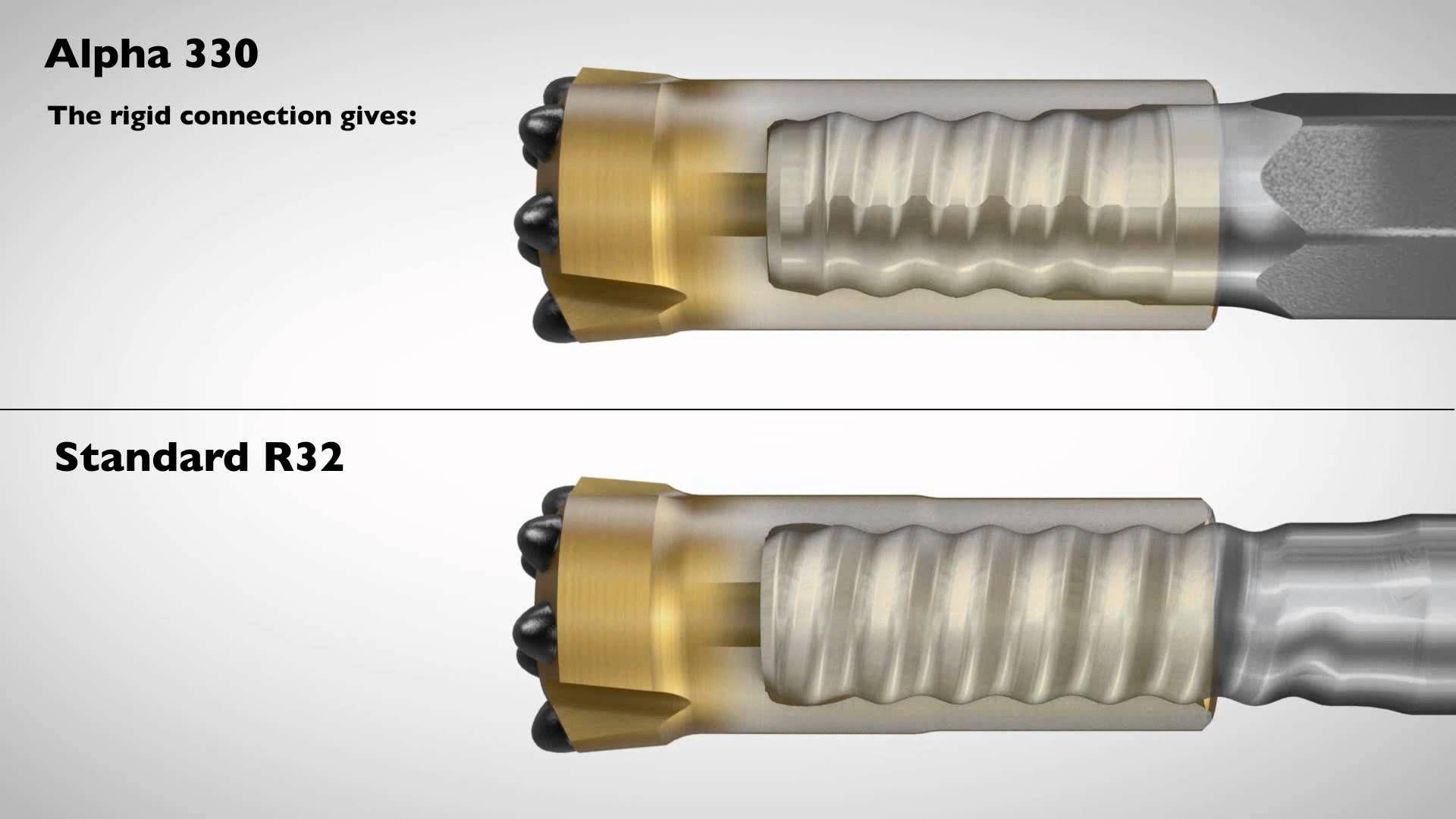 Sandvik Alpha 330 R32 Drifter Button Bits, R32 Drifting Rods