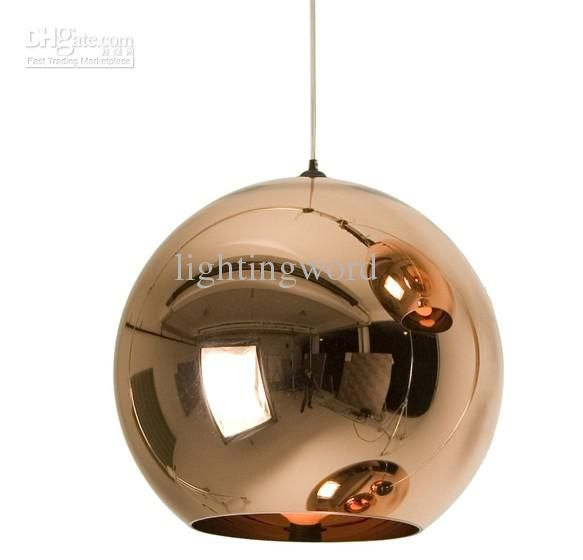 Wholesale Modern Artistic Tom Dixon Bronze Copper Shade Gold Silver Glass Pendant Light Chande Copper Pendant Lights Copper Pendant Lamp Ceiling Pendant Lights