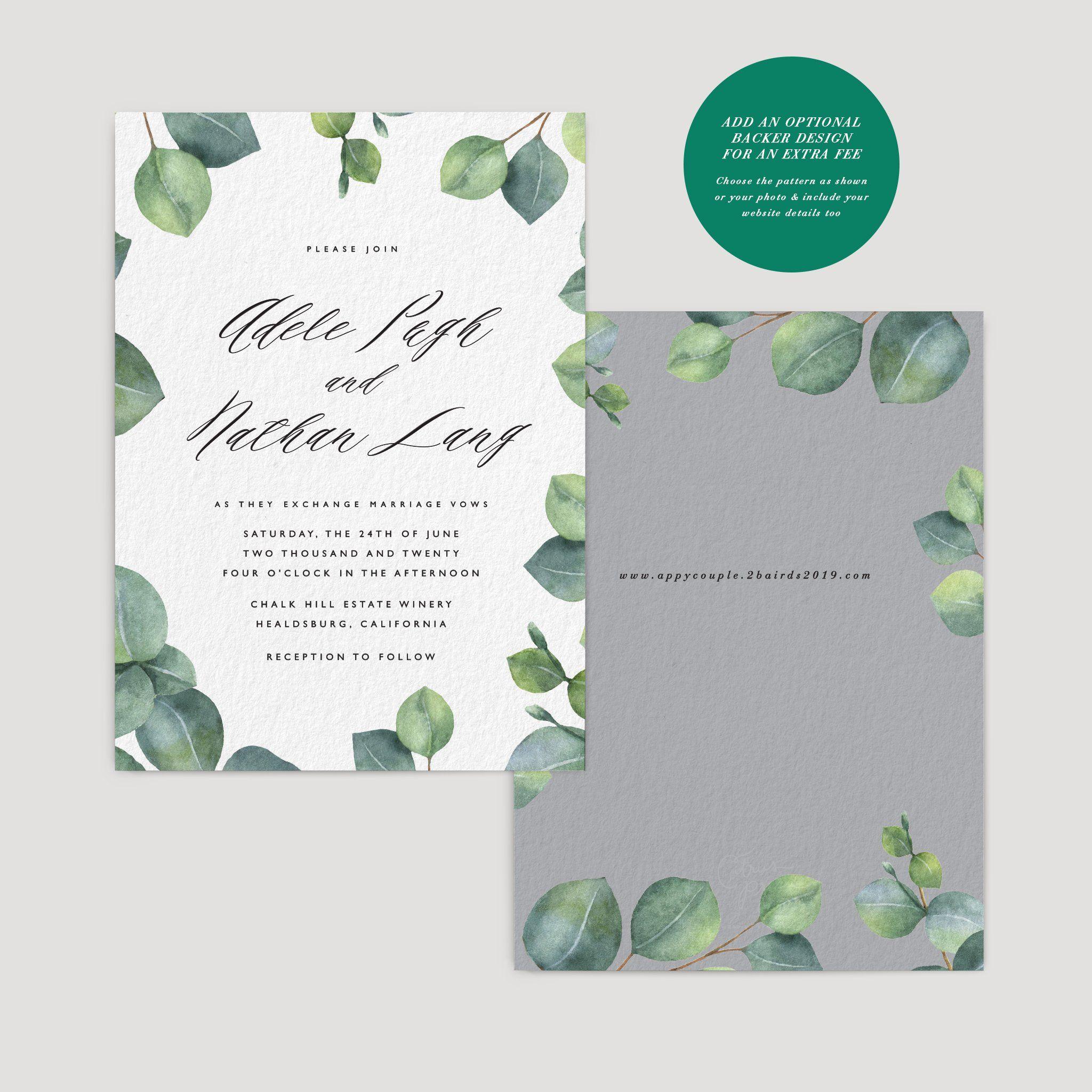 Invitation in 2020 Contemporary wedding invitations