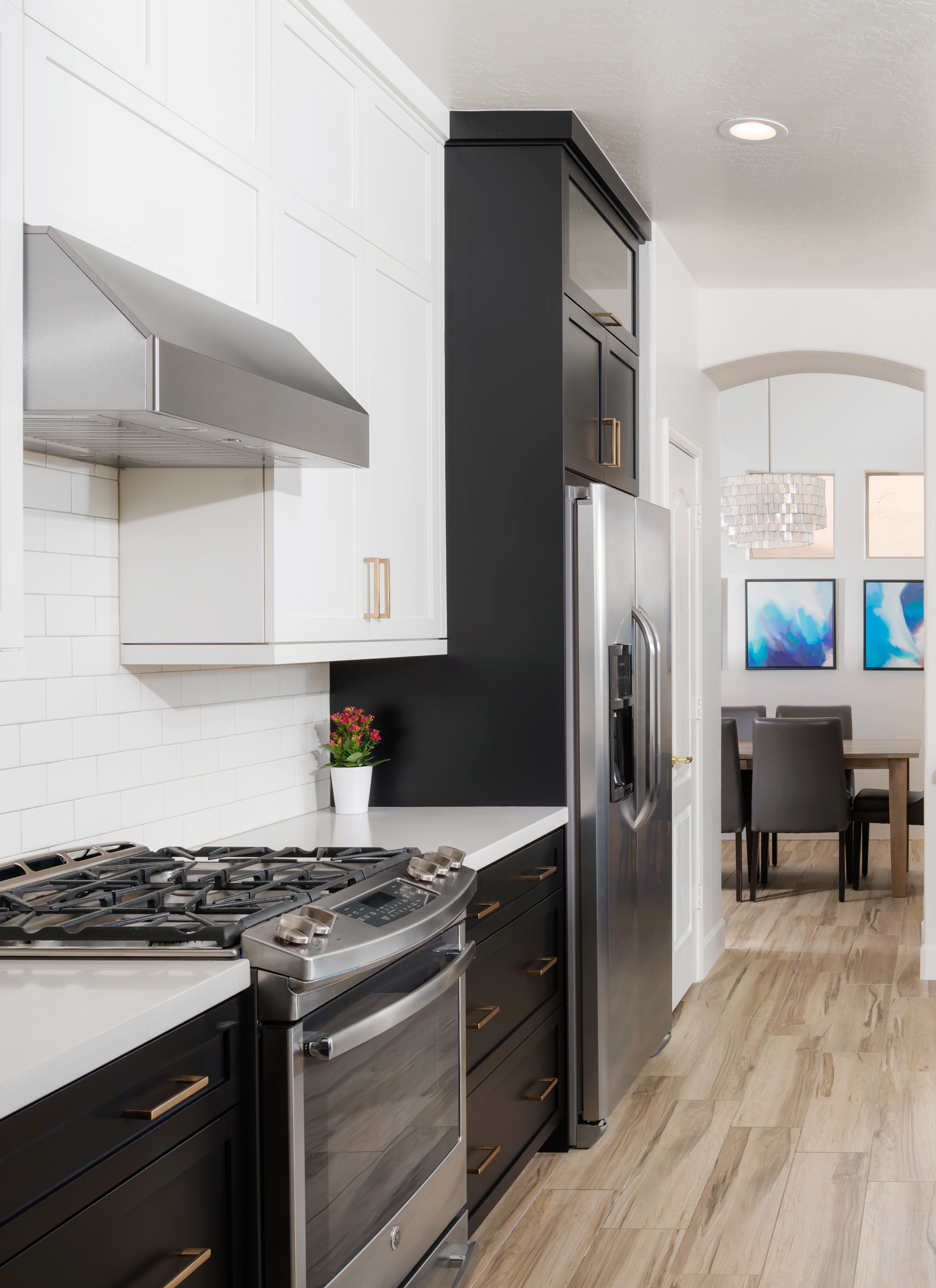 black and white kitchen with gold decorative hardware cabinetsolutionsusa weenrichhomelife on kitchen remodel gold hardware id=58588