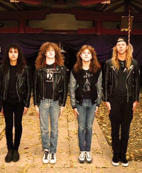 Young Metallica A Very Young Metallica James Hetfield And Lars Ulrich Look Like Little Kids Heavy Metal Music Metallica Art Metallica