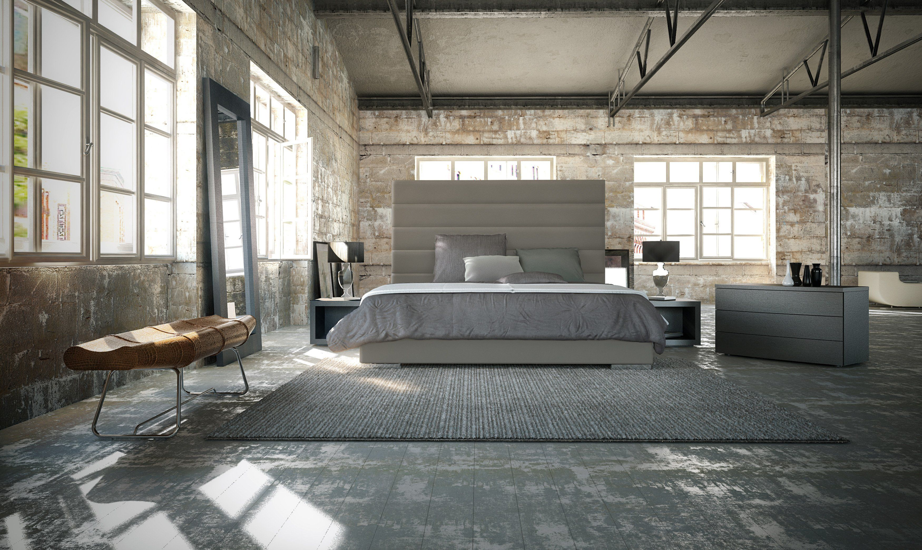 Prince Bed King Size By Modloft Available In Grey White And