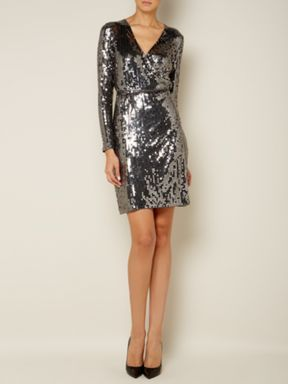 1a1d63184cf Michael Michael Kors Long sleeve sequin wrap dress Product code  D371209 £  204.00 www.houseoffraser.co.uk